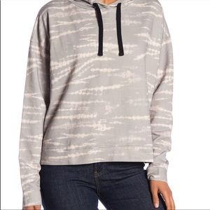 All Saints Lo Tie Dye Animal Print Hood Pullover